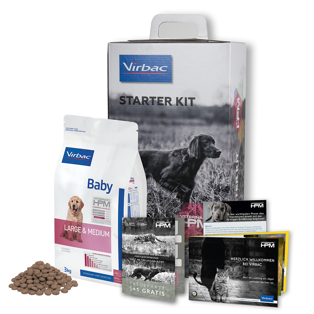 Starterpaket Baby Dog Large & Medium von Virbac